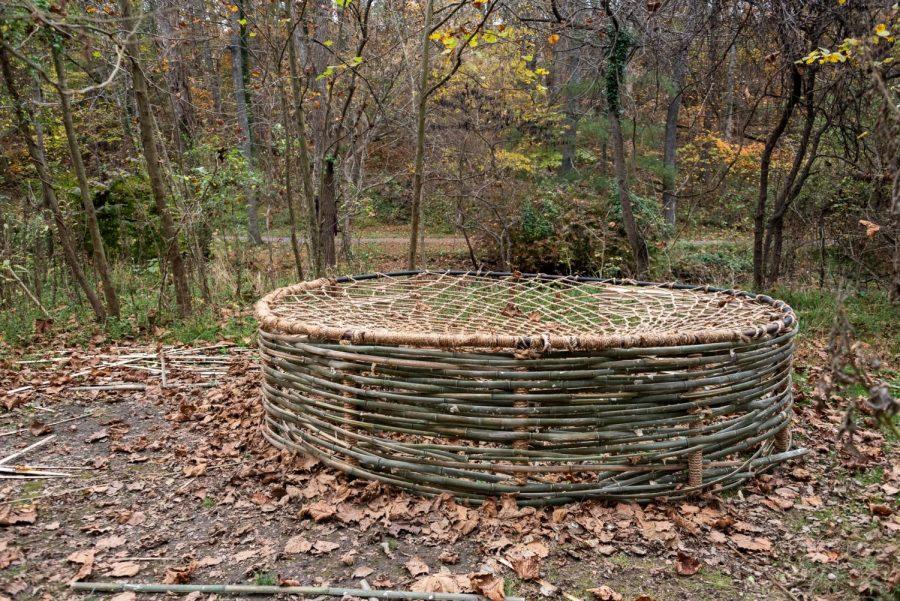 """The 12  foot  in  diameter  hammock  known  as  """"Cradle"""""""