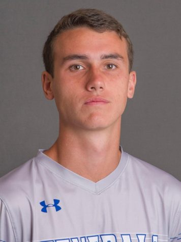 Recke is a senior captain on the university men's soccer team.