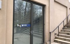 The WLUR studio is on the bottom floor of Elrod Commons. Photo by Grace Mamon, '22.