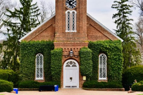 The University Chapel, formerly named Lee Chapel, houses the Lee family crypt, photo by Lilah Kimble, '23.